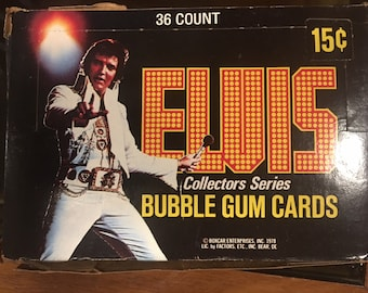 ELVIS Boxcar Ent trading cards in box