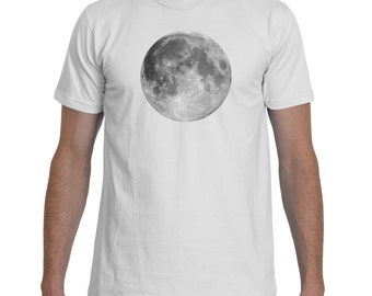 Full Moon White TShirt Men
