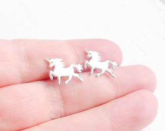 Unicorn Earrings Sterling Silver Unicorn Jewelry Gift for Her