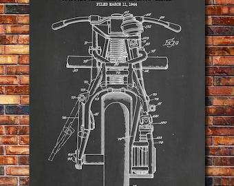 Indian Motorcycle Patent Print Art 1948