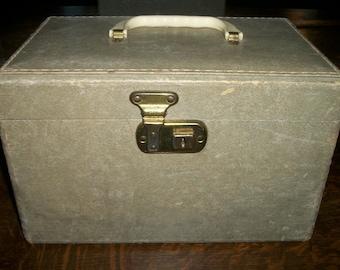 Vintage Gray Train Case