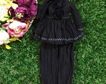 Black Blouse & Pants for Blythe