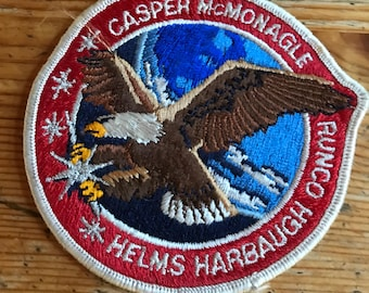 """NASA Endeavour Sts-54 Embroidered Patch Casper McMonagle Helms Harbaugh Runco space shuttle  patch sew on anything 4"""""""