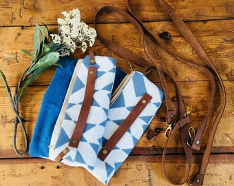 Fold Over Leather Clutch, Anniversary Gift, Leather Bag, Fold Over Wristlet, Fold Over Bag