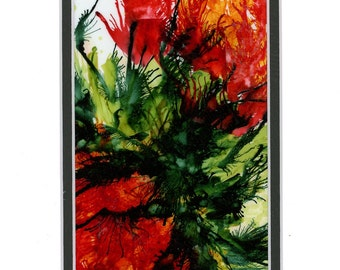 Alcohol Ink Art, Ink Painting, Red Flowers, Abstract Floral, Floral Painting