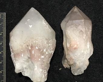 Candle quartz, pineapple quartz (2p)