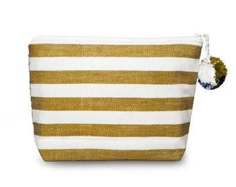 Mustard Stripe and Falseria Bag