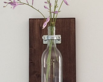 Wine Bottle Wall Decor, Country Charm with an Industrial Twist