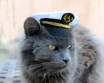 Capitaine de marine Mini chapeau - chapeau capitaine Cat