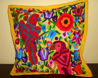 SC90 1 Guatemalan Huipil Pillow Cover from Chichicastenango, Quiché