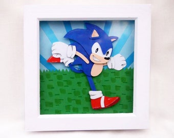 Sonic the Hedgehog 3D paper art