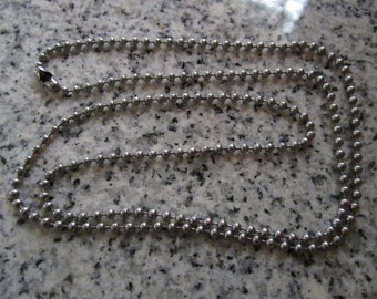 """24"""", 2.4mm No. 3 Stainless Steel Ball Chain necklaces, Made in the USA -  AWESOME Silver Alternative BC3-24"""