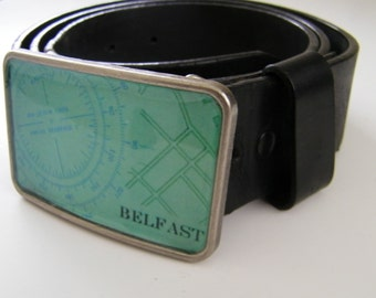 Belfast  Maine belt buckle