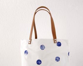 Blue dot Messenger bag, ladies handbag, handbag, shoulder bag, Tote, ladies bag