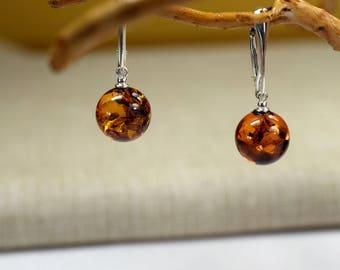 Amber Earrings Baltic Amber Earrings Baltic Amber Earrings In Handmade Silver Earrings Natural Baltic Amber Earrings Drop Earrings