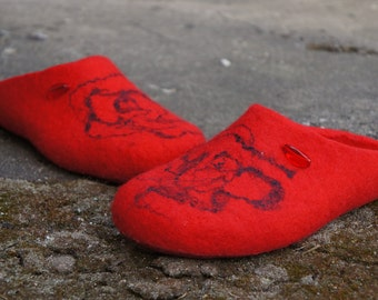 Wool slippers/House slippers/Felt shoes/Wool shoes/Felted shoes/Womens slippers/Handmade slippers/Slippers/Home shoes/Eco friendly