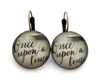 """Earrings cabochon """"once upon a time"""" 20mm"""