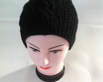 Black unisex Hat warm and soft