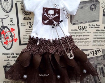 Blythe Dress Pullip Dress Cloth Outfit Skull Rock  Tutu Dress
