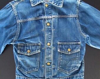 Vintage 1950s denim Big Smith Buckaroo jacket * styled like Levi's Type 2, size S