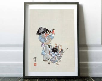 Japanese Art Print. Japanese Wall Art. Japanese art. Asian Painting. Japanese Print. Art Print. Wall Decor. Home Decor. Large size poster
