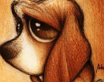 Diamond dog embroidery