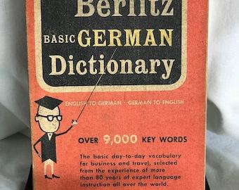 Vintage Small Book - Berlitz Basic German Dictionary - 1957 - Please Look!