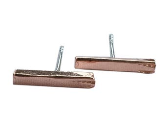 By BIEK ear Stud ' sticks ' from recycled copper | Collection ' Cu '
