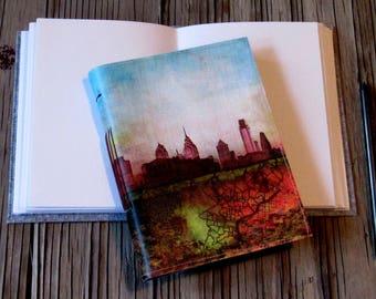 Philly inspire journal - philly skyline art, gift giving for him and her - tremundo