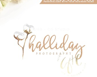 Affordable Customized Logo - photography logo - event logo - interior design logo - cotton logo - watercolor - Marketing - BL219E
