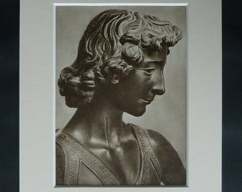 Print of Andrea del Verrocchio's Sculpture of David, Available Framed, Statue Art, Bronze Picture, Renaissance Decor, Old Biblical Wall Art