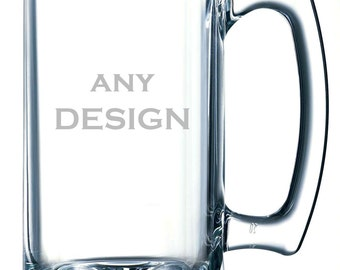 Personalized custom engraved beer mug