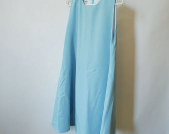 60s Style Handmade Baby Blue Dress S M