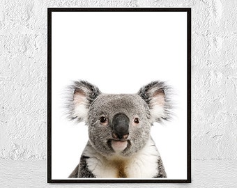 Nursery Printable, Koala Print, Australian Animal, Nursery Wall Art Decor, Koala Bear, Nursery Poster, Babies Room Art, nursery animal art