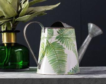 Botanical Fern Leaf, Galvanised Watering Can
