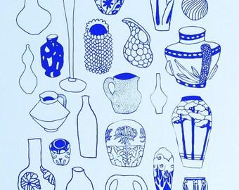 Met Museum Blue Vase Print