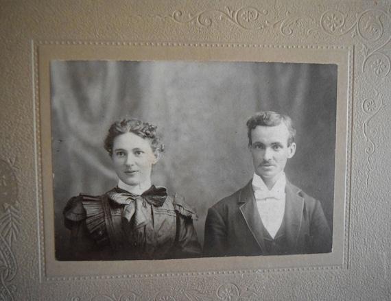 Mr & Mrs. Leo Bull ~ Soul Mates, Antique photograph, Portrait, Victorian, Edwardian