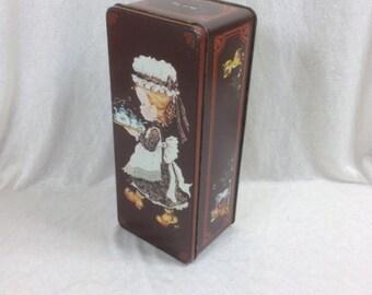 Sarah Kay Tin Canister Tin Container Tea Container 4.25x3 Inches Sarah Kay Tin Box