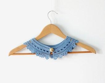 Placid Blue Lace Collar