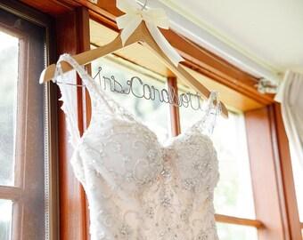Wedding hanger, bride hanger, wedding dress hanger, bridal hanger, bride, dress hanger, personalized hanger, wedding hangers, mrs hanger