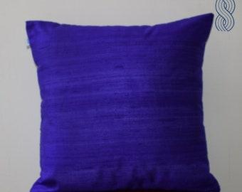 Purple Raw Silk Cushion Cover