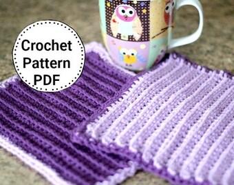 CROCHET PATTERN-Tideway, Dishcloth Pattern