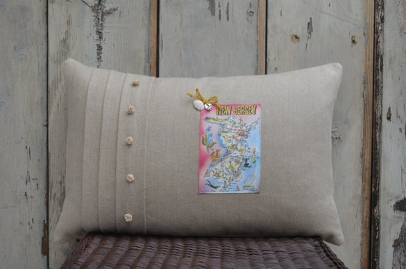 New Jersey Postcard Pillow  (available in 3 styles and 2 prices)