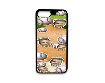 Custom Baseball Background iPhone Case