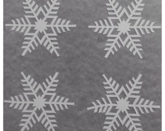 """4 1"""" Vinyl Snowflake Decals for the Holidays- Christmas Winter Decorations - For Windows, Door, Wall, Christmas Stickers"""