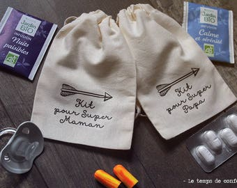 Super dad survival kits / Super mum or pregnant again exhausted parent baby shower gift funny