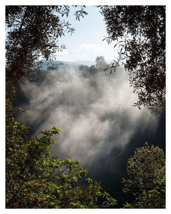 Damping Moroccan Valley, Nature Photography, Gray and Green, Fine Art Print, Morning Mist, Photography, Morocco Wall Art, 5x7, 8x10