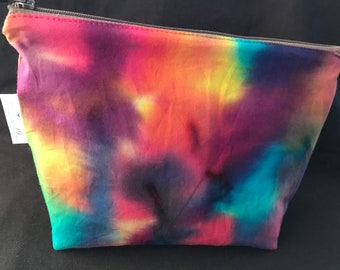 Tie Dye Wet Bag, Cosmetic Bag, Travel Bag, Beach Bag, Toiletry Bag, Cloth Pad Wet Bag, Tie-Dye, Purple, Pink, Teal, Blue