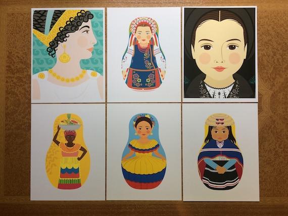 "Six Traditional Folk Dress 8.5""x11"" Prints, Proofs / Seconds"