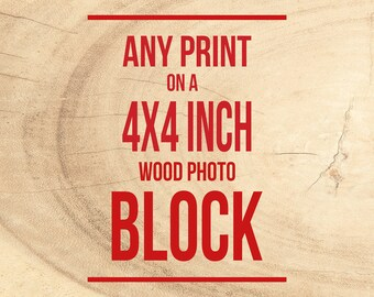 Photograph on Wood, Prints on Blocks, Mounted Photography Wall Art, Personalized, Ready to Hang, Made in Chicago, Handmounted Pictures